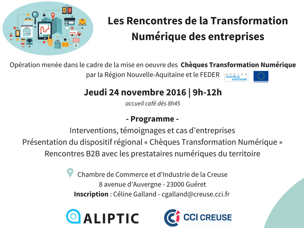 Rencontres de la TransfoNum + Programme - 22 novembre 2016 - Guéret