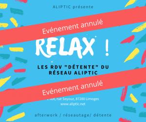 Relax ! du 8 juillet 2021 - Annulé @ L'îlot