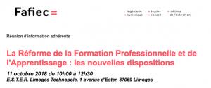 Réforme de la Formation Professionnelle et de l'Apprentissage @ ESTER Technopole