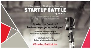 Ouverture des candidatures au Startup Battle by ALIPTIC à Brive