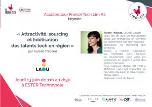 """Keynote """"Attractivité, sourcing et fidélisation des talents tech en région"""" @ ESTER Technopole"""