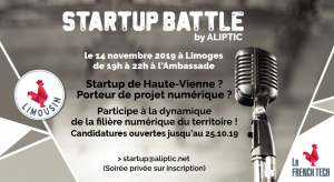 Startup Battle by ALIPTIC – Edition 2019 à Limoges @ L'Ambassade