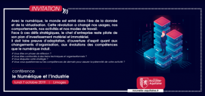 """Conférence """"le numérique et l'industrie"""" @ 52 rue de Dion Bouton, à Limoges"""