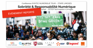 Matinale Sobriété et Responsabilité Numérique - Syntec Numérique Tour @ ESTER Technopole