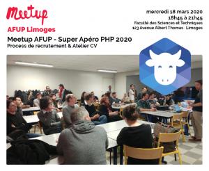 Meetup AFUP - Super Apéro PHP 2020 @ Faculté des Sciences et Techniques
