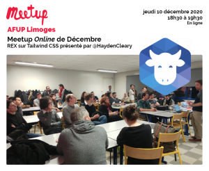 AFUP Meetup Online de décembre : REX sur Tailwind CSS @ En ligne