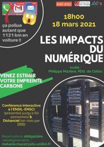 Conférence ENSIL-ENSCI : Les impacts du numérique @ à l'ENSIL ENSCI et en Ligne