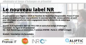 Webinaire - Nouveau label Numérique Responsable !